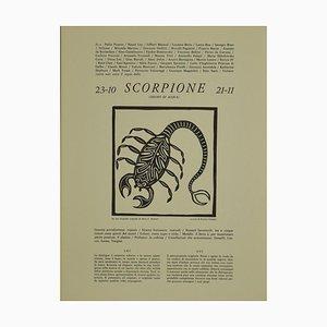 Piero C. Antinori, Scorpio, 1970s, Woodcut Print