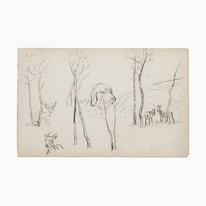 Brissot de Warville, In The Countryside, 19. Jahrhundert, Bleistift