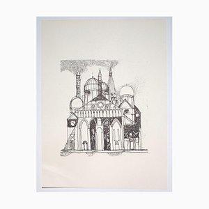 Franco Gentilini, Die Kathedrale, 20. Jahrhundert, Offsetdruck