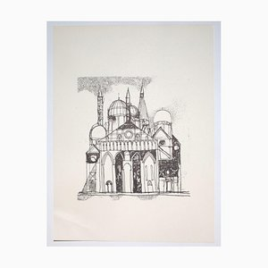 Franco Gentilini, The Cathedral, 20th Century, Offset Print