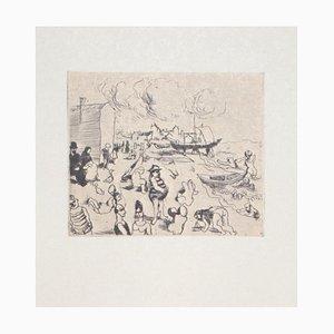 Seaside, Offset Print on Paper, 20th Century