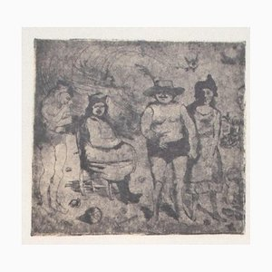 Franco Gentilini, Family Scene, 20th Century, Offset Print