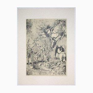 Franco Gentilini, Garden, 20th Century, Offset Print