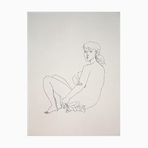 Franco Gentilini, Nude, 20th Century, Offset Print