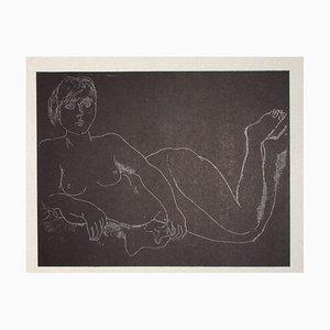 Franco Gentilini, Nude on Black, 20th Century, Offset Print