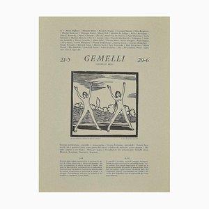 Piero C. Antinori, Gemini, 20th Century, Holzschnitt Druckgraphik