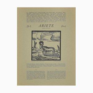 Piero C. Antinori, Zodiac Signs - The Ram, 1970s, Woodcut