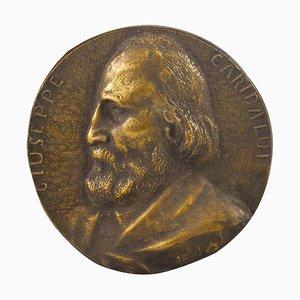 Garibaldi's Bronze Portrait by Italian Manufacture, 19th Century