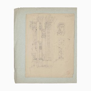 Architecture, 19th Century, Pencil Drawing