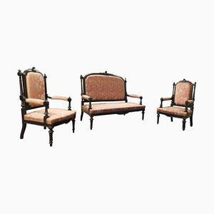Italian Sofa Set, 1940s, Set of 3