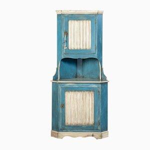 Mueble esquinero en blanco y azul, años 20