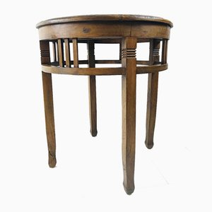 Antique Mahogany Round Side Table