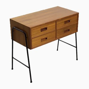 Scandinavian Teak Console with Drawers, 1960s