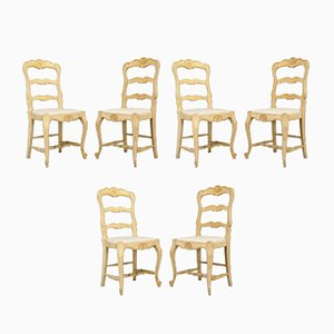 French Cafe Chairs, 1930s, Set of 6