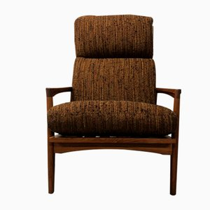 Tall Teak Stanford Armchair by Folke Ohlsson for Dux, 1960s