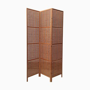 Scandinavian Pine Pine Room Divider Screen, 1970s