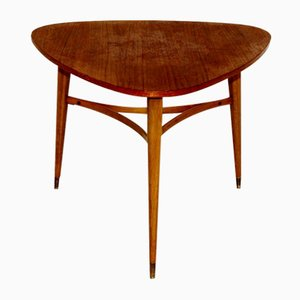 Mid-Century Swedish Teak and Beech Side Table