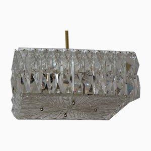 Lampada da soffitto in cristallo di piombo di JT Kalmar, anni '60