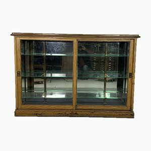 Vintage Haberdashery Shop Display Cabinet