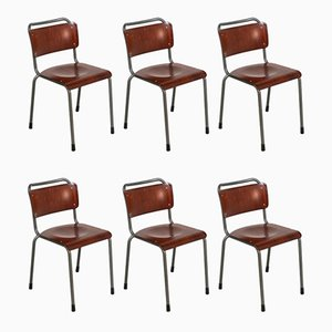 106 TU Delft Dining Chairs by Willem Hendrik Gispen for Gispen, 1960s, Set of 6