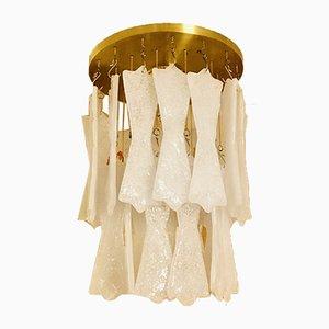 Deckenlampe aus Eisglas von JT Kalmar für Kalmar, 1970er