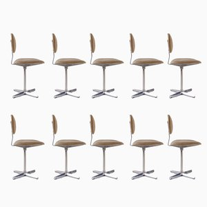 Binocle Desk Chairs from Beaufort, 1960s, Set of 10