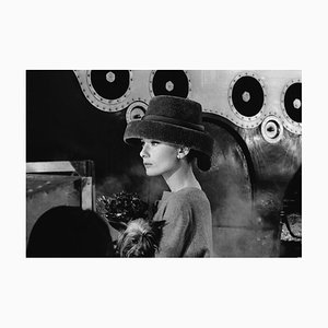 Audrey Hepburn Audrey's Funny Face Silver Gelatin Resin Print Framed In Black by Bert Hardy