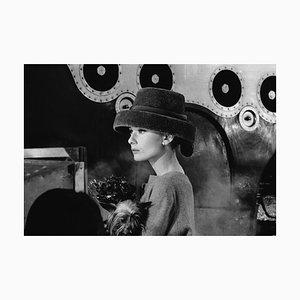 Audrey Hepburn Audrey's Funny Face Silver Gelatin Resin Print Framed In Black by Bert Hardy