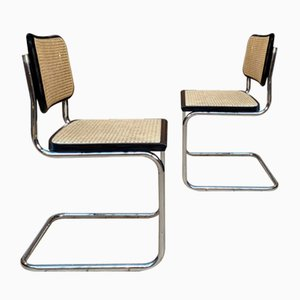 Model B32 Beech Dining Chairs by Marcel Breuer, 1960s, Set of 2