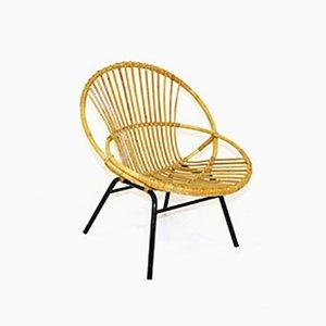 Sessel aus Rattan & Metall, 1960er