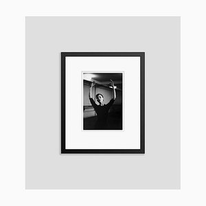 Audrey Hepburn Graceful Dancer Silver Gelatin Resin Print Framed In Black by Hulton Archive
