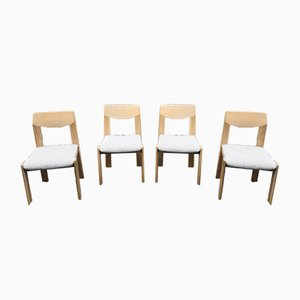 Scandinavian Design Beechwood Dining Chairs, 1983, Set of 4
