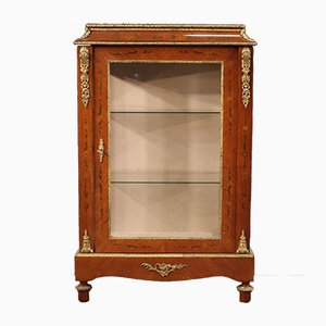 French Inlaid Rosewood Showcase, 1960s
