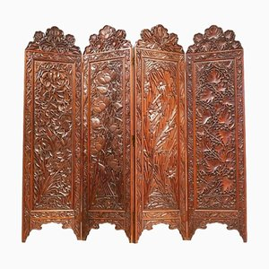Art Nouveau Screen Divider Paravan in Rosewood, 1900s