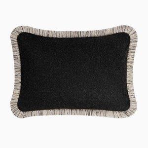 ARTIC Black Wool Pillow by Lorenza Briola