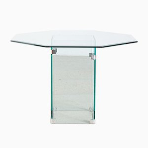 Glass Dining Table by Leon Rosen for Pace Collection, 1970s