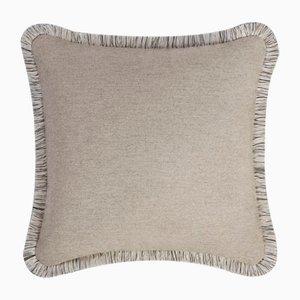 Beige Wool Artic Pillow by Lorenza Briola for Lo Decor