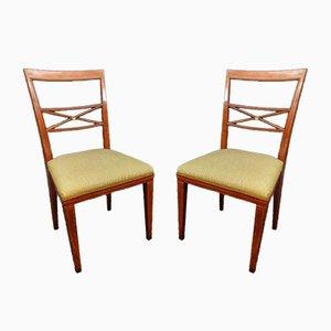 Louis XVI Stühle aus Mahagoni, 1930er, 2er Set