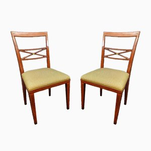 Louis XVI Style Chairs in Mahogany, 1930s, Set of 2
