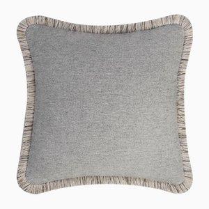 Cojín Theory de lana gris de Lorenza Briola