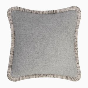 Grey Wool Artic Pillow by Lorenza Briola
