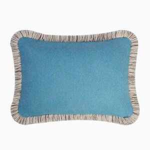 Light Blue Wool Artic Pillow by Lorenza Briola