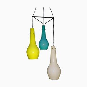 Murano Glass Ceiling Lamp with 3 Lights by Gino Vistosi, 1950s