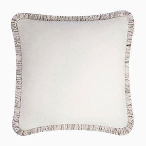 Cuscino articolare in lana bianca di Lorenza Briola