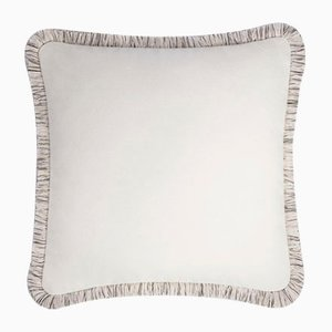 White Wool Artic Pillow by Lorenza Briola