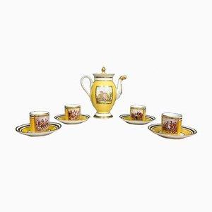 Empire Porcelain Coffee Set, Set of 9