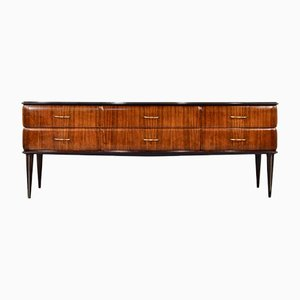 Italian Rosewood and Brass Sideboard, 1960s