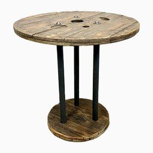 Tavolino da caffè industriale circolare, anni '60