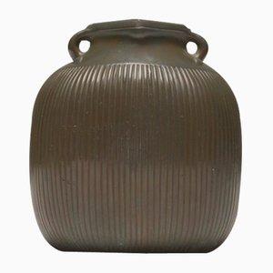 Disco Metal Vase by Just Andersen for Just Andersen, 1930s