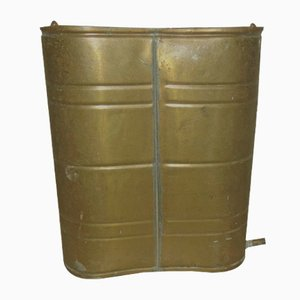 Art Deco Industrial Brass Container